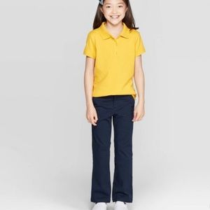 Girls' Bootcut Stretch Uniform Chino Pants
